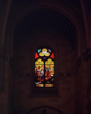 Dulčić, vitraj sv. Franje  - © Zoran Osrečak